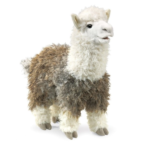 Folkmanis Folkmanis handpop Alpaca 42cm