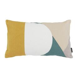 Abstract Yellow Green | 30 x 50 cm | Kussenhoes | Katoen/Acryl