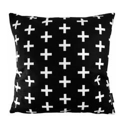 Zwart-Wit Kruisjes | 45 x 45 cm | Kussenhoes | Katoen