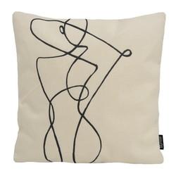 Abstract Figure #1 | 45 x 45 cm | Kussenhoes | Linnen/Katoen