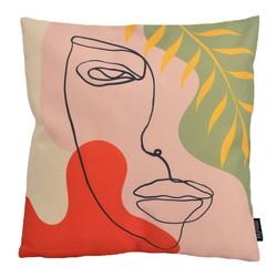 Modern Face #1 | 45 x 45 cm | Kussenhoes | Linnen/Katoen