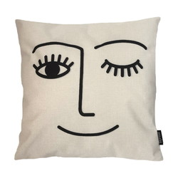Funny Abstract Face | 45 x 45 cm | Kussenhoes | Katoen