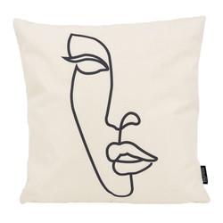 Woman Silhouette | 45 x 45 cm | Kussenhoes | Katoen