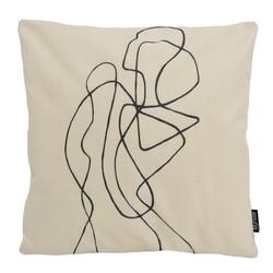 Abstract Figure #2 | 45 x 45 cm | Kussenhoes | Linnen/Katoen