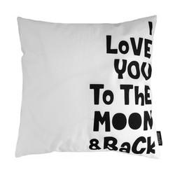 To The Moon & Back | 45 x 45 cm | Kussenhoes | Katoen