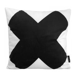 Big Black Cross | 45 x 45 cm | Kussenhoes | Katoen
