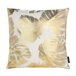 Gold Monstera | 45 x 45 cm | Kussenhoes | Katoen/Polyester