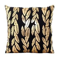 Gold Feathers | 45 x 45 cm | Kussenhoes | Katoen/Polyester