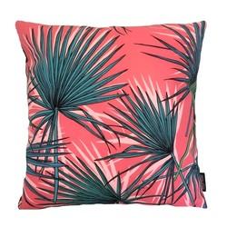Pink Green Palm | 45 x 45 cm | Kussenhoes | Katoen/Polyester