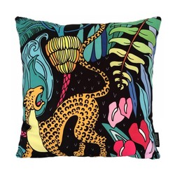 Jungle Tiger | 45 x 45 cm | Kussenhoes | Katoen/Polyester