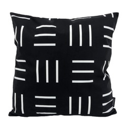 Senza Black / White #1 | 45 x 45 cm | Kussenhoes | Katoen