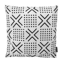 Senza Black / White #2 | 45 x 45 cm | Kussenhoes | Katoen