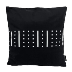 Senza Black / White #4 | 45 x 45 cm | Kussenhoes | Katoen