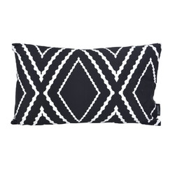 Yana Black Long | 30 x 50 cm | Kussenhoes | Katoen/Polyester