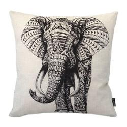 Asian Elephant   45 x 45 cm   Kussenhoes   Linnen/Katoen