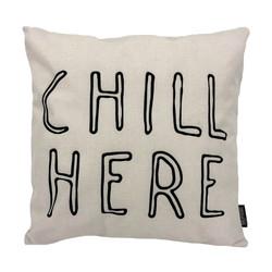 Chill Here | 45 x 45 cm | Kussenhoes | Linnen/Katoen