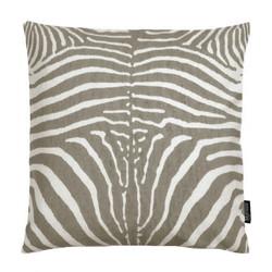 Taupe Zebra | 45 x 45 cm | Kussenhoes | Linnen/Katoen