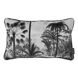 Velvet Palms | 30 x 50 cm | Kussenhoes | Velvet/Polyester
