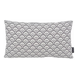 Waves Grey Long | 30 x 50 cm | Kussenhoes | Katoen/Polyester