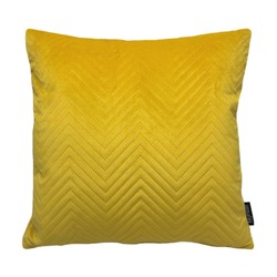 Yellow Velvet Chevron | 45 x 45 cm | Kussenhoes | Polyester