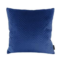 Blue Velvet Chevron   45 x 45 cm   Kussenhoes   Polyester