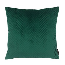 Dark Green Velvet Chevron   45 x 45 cm   Kussenhoes   Polyester