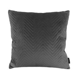 Dark Grey Velvet Chevron | 45 x 45 cm | Kussenhoes | Polyester
