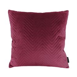 Red Velvet Chevron | 45 x 45 cm | Kussenhoes | Polyester