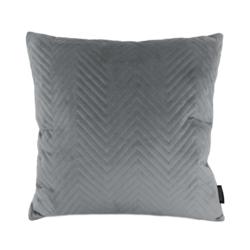 Silver Grey Velvet Chevron | 45 x 45 cm | Kussenhoes | Polyester