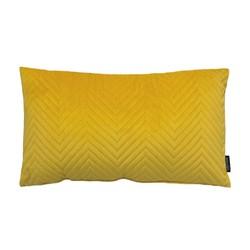 Yellow Chevron Velvet Long | 30 x 50 cm | Kussenhoes | Polyester