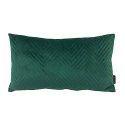 Dark Green Chevron Velvet Long | 30 x 50 cm | Kussenhoes | Polyester