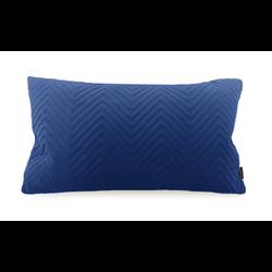 Blue Chevron Velvet Long | 30 x 50 cm | Kussenhoes | Polyester