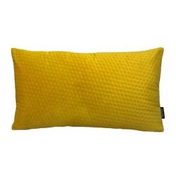Yellow Velvet Button Long   30 x 50 cm   Kussenhoes   Polyester