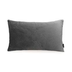 Dark Grey Velvet Button Long | 30 x 50 cm | Kussenhoes | Polyester