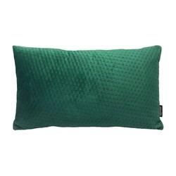 Dark Green Velvet Button Long | 30 x 50 cm | Kussenhoes | Polyester