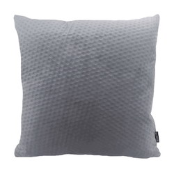 Silver Grey Button Velvet | 45 x 45 cm | Kussenhoes | Polyester
