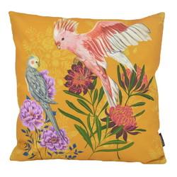 Yellow Love Birds - Outdoor | 45 x 45 cm | Kussenhoes | Katoen