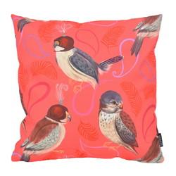 Red Love Birds - Outdoor | 45 x 45 cm | Kussenhoes | Katoen