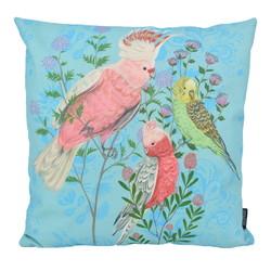 Blue Love Birds - Outdoor   45 x 45 cm   Kussenhoes   Katoen