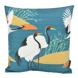 Crane Birds #2 - Outdoor | 45 x 45 cm | Kussenhoes | Katoen