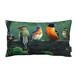 Painted Birds | 30 x 50 cm | Kussenhoes | Linnen/Katoen
