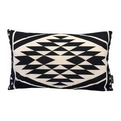 Black Aztec Long | 30 x 50 cm | Kussenhoes | Linnen/Katoen