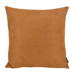 Suedine Cognac | 45 x 45 cm | Kussenhoes | Suedine/Polyester