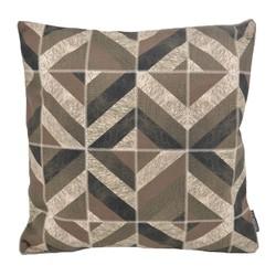 Stripe Patchwork #2 | 45 x 45 cm | Kussenhoes | PU Leder