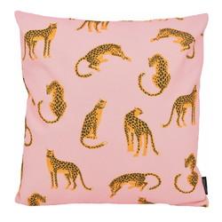 Pink Leopard - Outdoor | 45 x 45 cm | Kussenhoes | Katoen