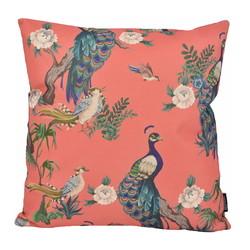 Peacock & Birds | 45 x 45 cm | Kussenhoes | Katoen/Linnen