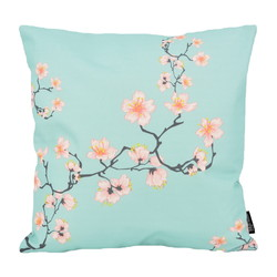 Blue Cherry Blossom - Outdoor   45 x 45 cm   Kussenhoes   Katoen