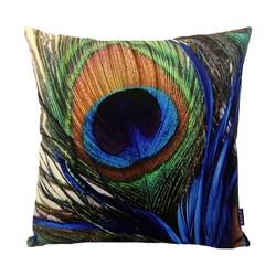Peacock Feather / Pauwenveer | 45 x 45 cm | Kussenhoes | Katoen