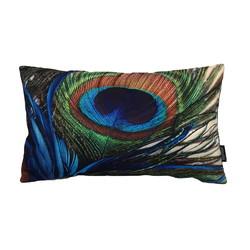 Peacock Feather / Pauw Long 1 | 30 x 50 cm | Kussenhoes | Katoen
