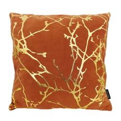 Velvet Marble Orange | 45 x 45 cm | Kussenhoes | Polyester